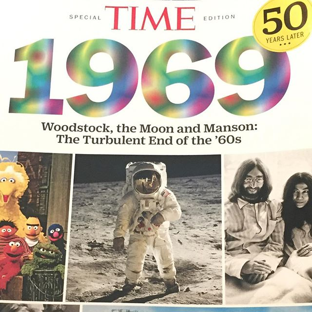 Time Magazine did a rad commemorative issue recently on 1969. Grab a copy- really good reading on a wild, groovy, crazy year. #history #thesixties #timemagazine 💫💄👅