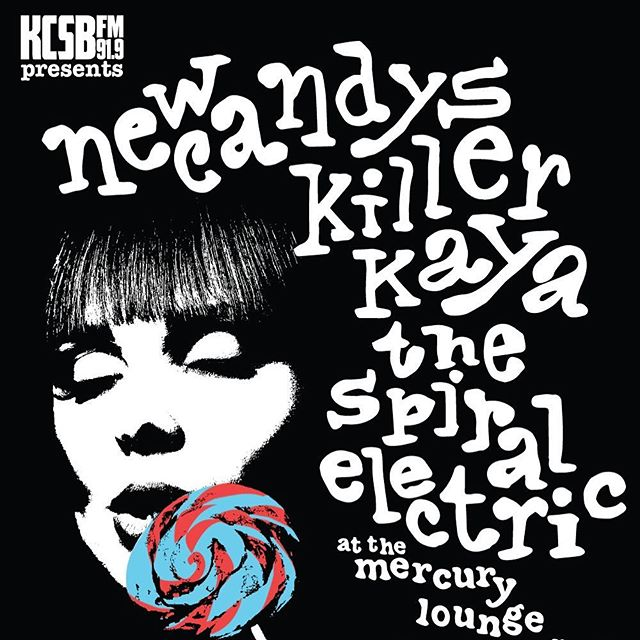 Solid Nico vibes with this rad poster made by @uhhhhlauren @killerkaya @newcandys @thespiralelectric will be at @mercuryloungeotg in Santa Barbara on March 27. #psychedelicrock #velvetundergroundvibes #glam #dontmissthis 👄👅💦💦💦 Presented by @kcsbfm