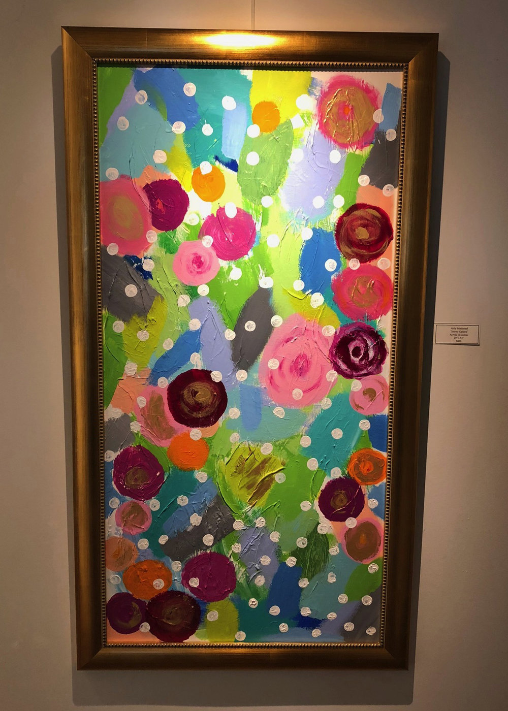 """Snowy Garden"", 29"" x 53"", hanging at Copious, 520 South High Street, Columbus, Ohio"