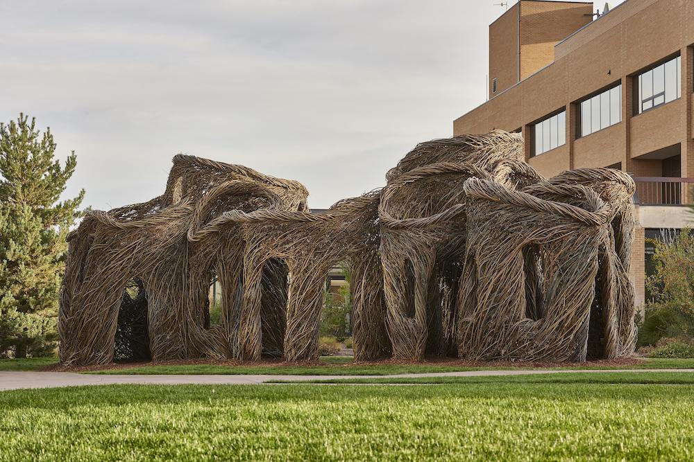 Patrick Dougherty Sculptures   USU