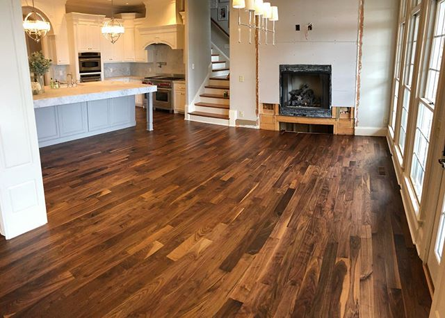 Love how this gorgeous walnut floor turned out! @bona_pro #restoration #diy #remodeling #floors