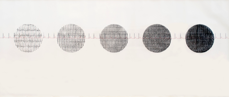 Follow Your Heart.  2012.  Ink and graphite on paper. 55 x 100 inches.