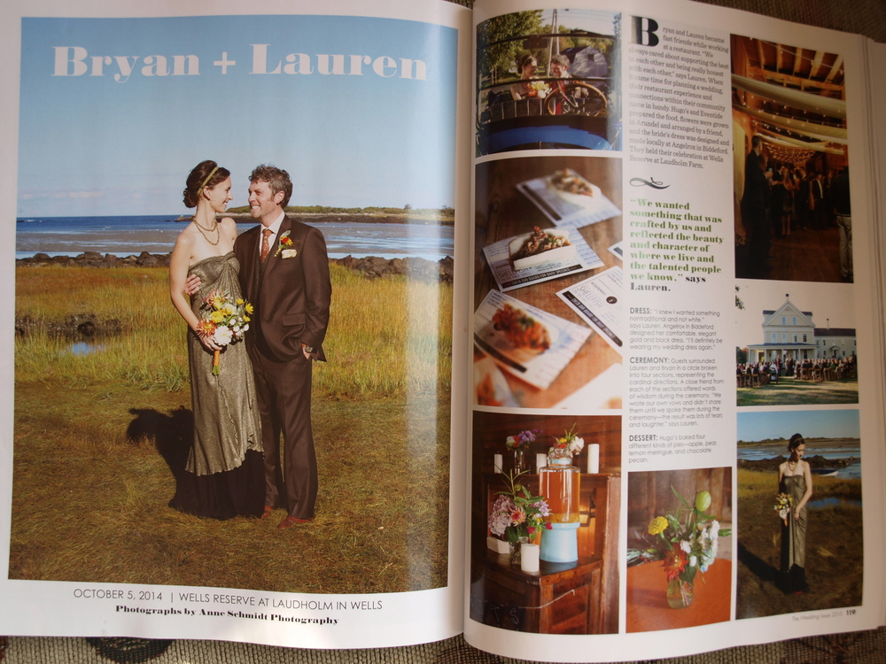 Frinklepod flowers were featured in the Maine Magazine 2015 Wedding Issue!  We were honored to provide all the flowers for Bryan + Lauren's wedding.  (Please click on the photo above to see more photos from this day.)