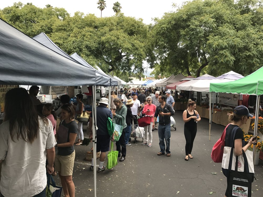 - Santa Barbara Saturday Farmers MarketJust a few blocks away, each Saturday from 8:30am-1:00pmCorner of Santa Barbara and Cota Streets