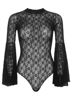 7ff5f15e5c3 Leg Avenue Lace Bell Sleeve Bodysuit