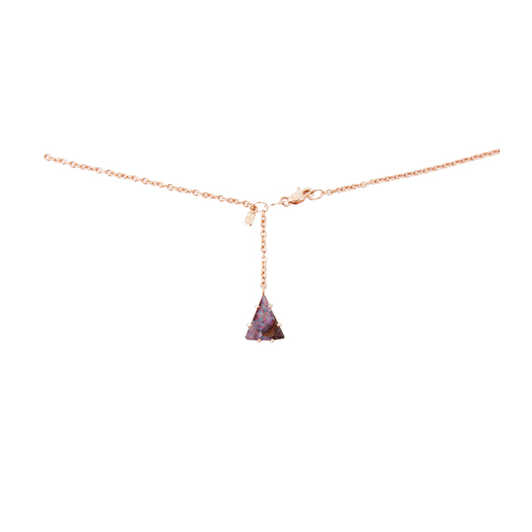 Cherise Thomson |   Vintage Rose Gold Boulder Opal Necklace | #15007 | Back of neck