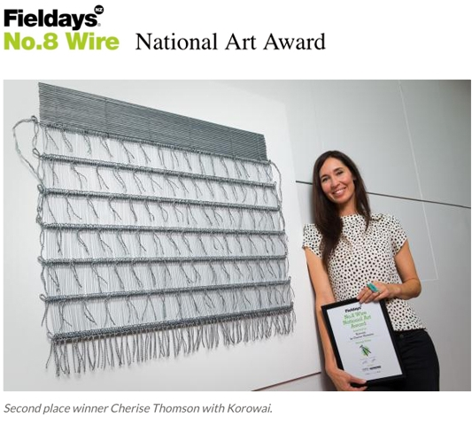 KOROWAI | 2ND PLACE 2016 FIELDAYS NO.8 WIRE NATIONAL ART AWARD CHERISE THOMSON