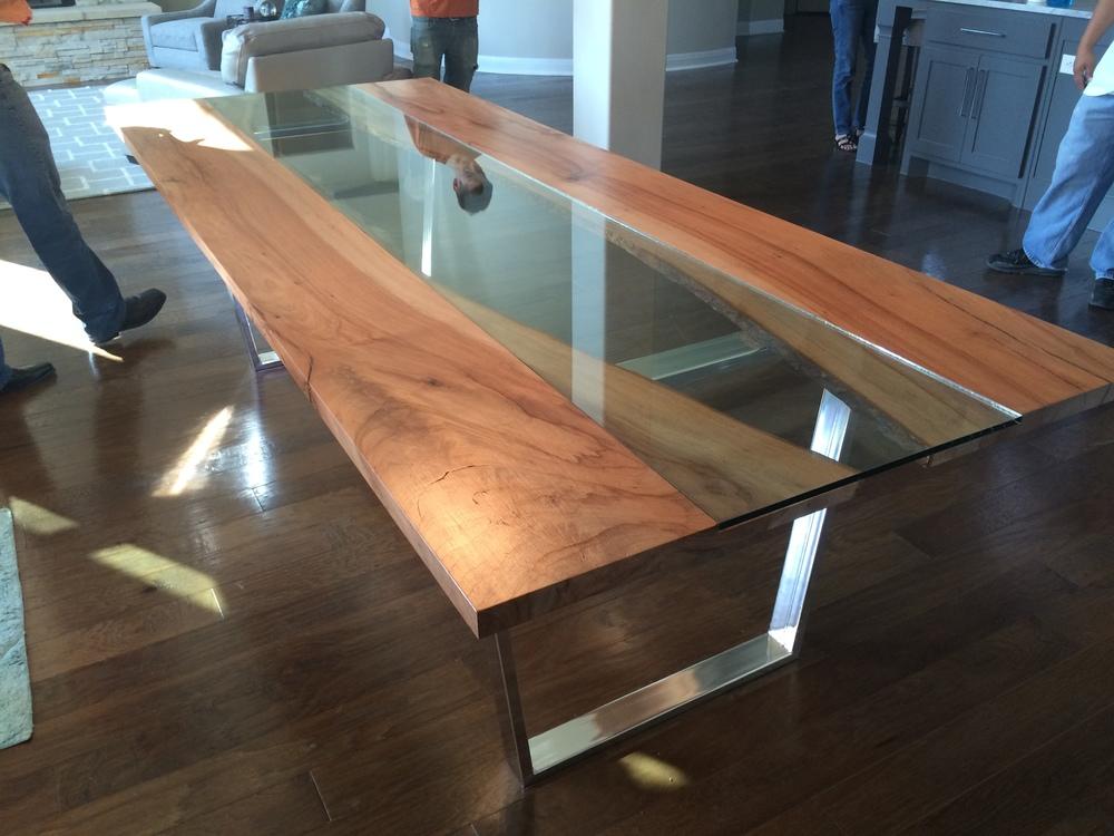 Lake Austin Pecan Slab Dining Table Part 80