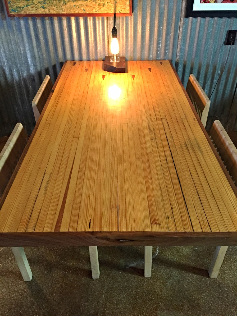 Bowling Alley Dining Table   Reclaimed In San Antonio, Texas