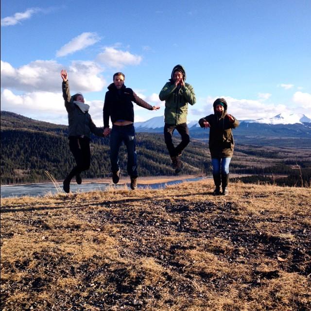 R. Desjardins, S. Porter. Grande Cache, AB. Canada #jumptheworld