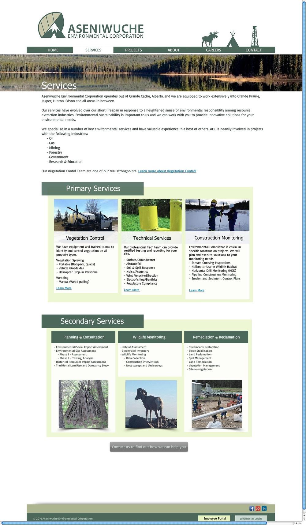 AEC Alberta Corporate Website