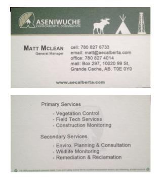 AEC Business Cards