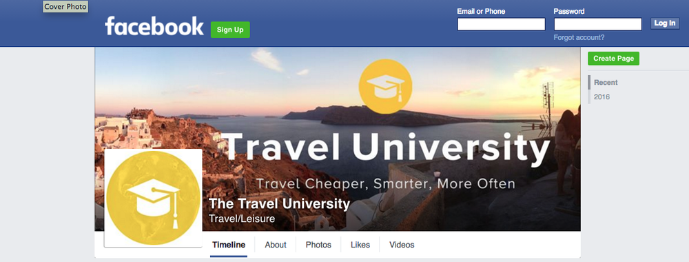 Facebook group for students and alumni
