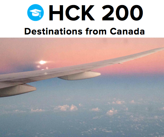 Travel hacking destinations from Canada