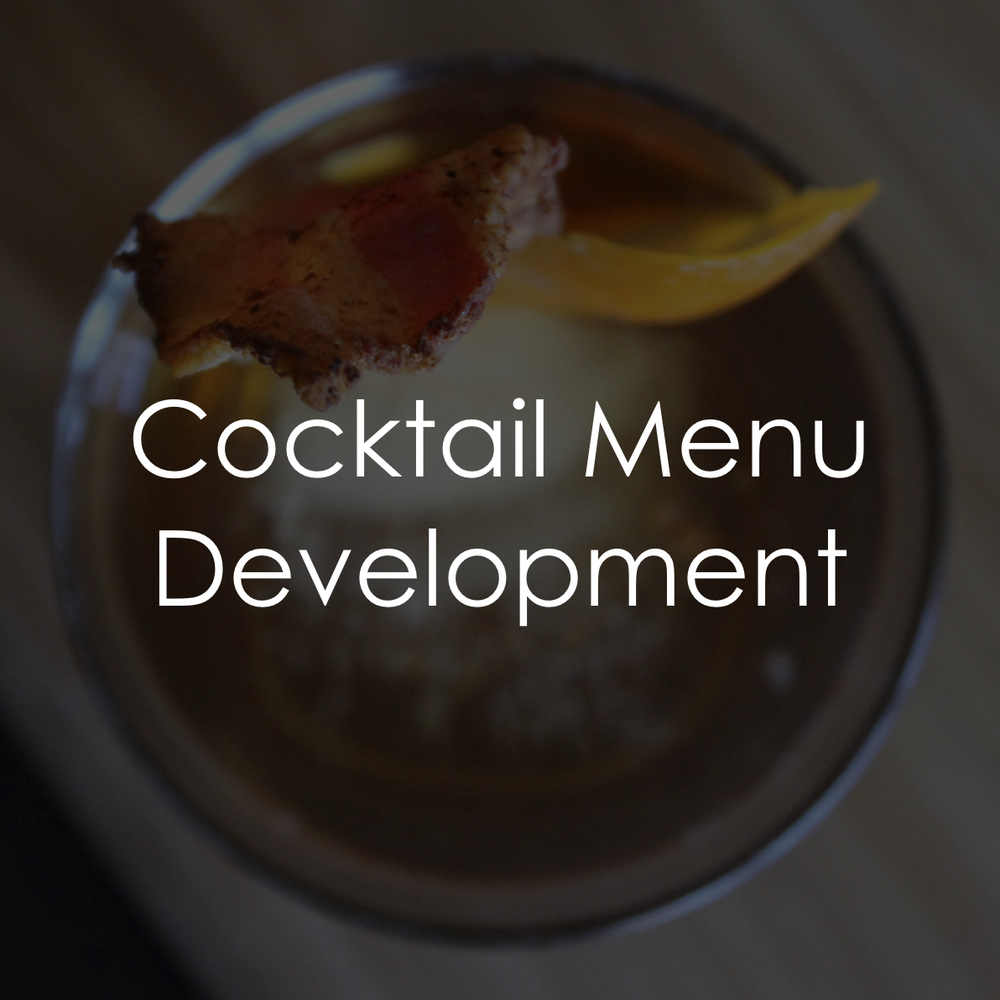 Behind the Wood Cocktail Menu Development