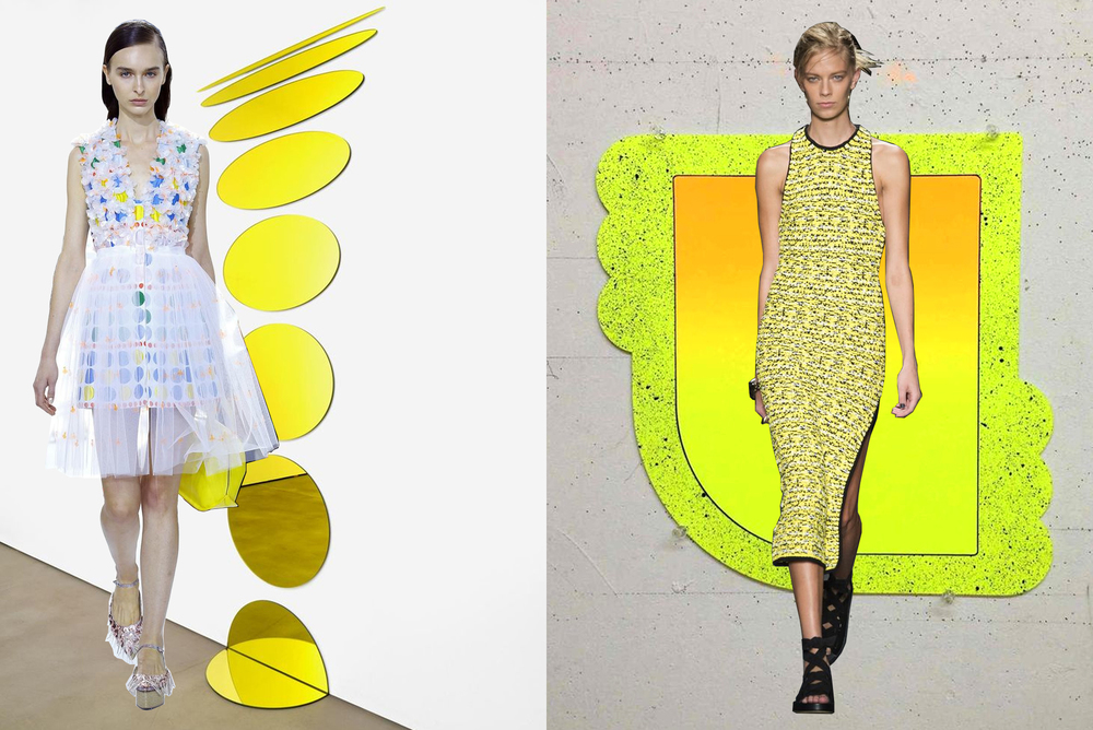 left to right: delpozo on olafur eliasson; rag & bone on greg bogin