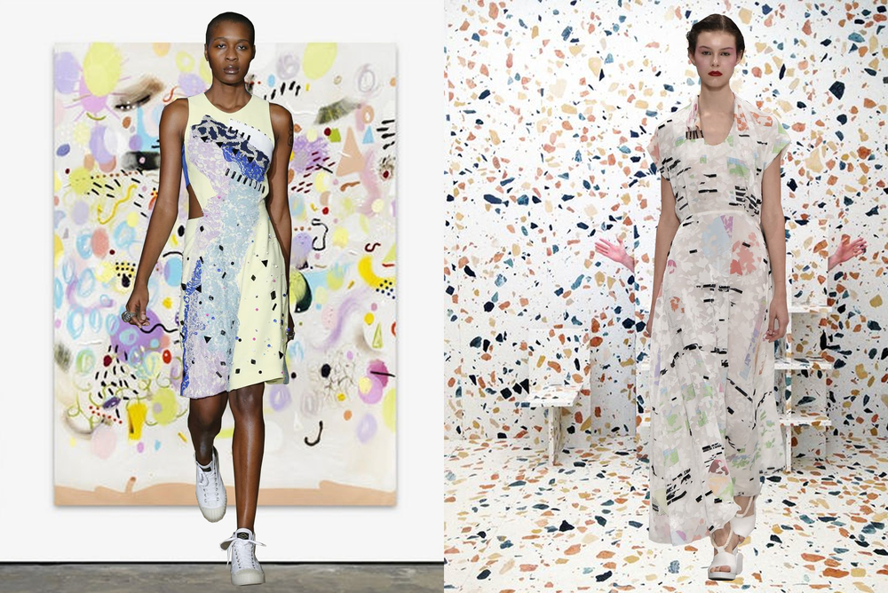 left to right: koché on florian meisenberg; chalayan on max lamb