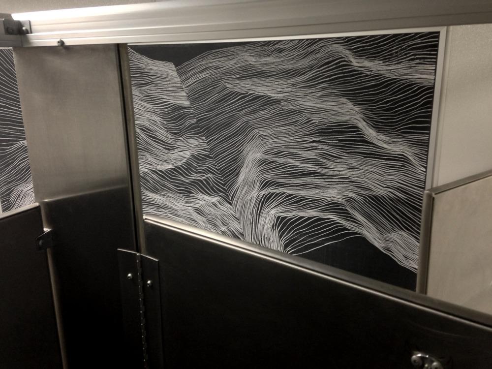 untitled temporary drawing, blackboard in men's room no.1