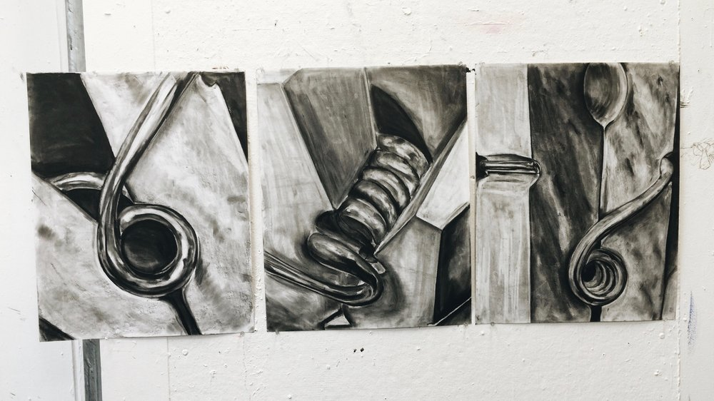 clothespins in charcoal 18 x 24
