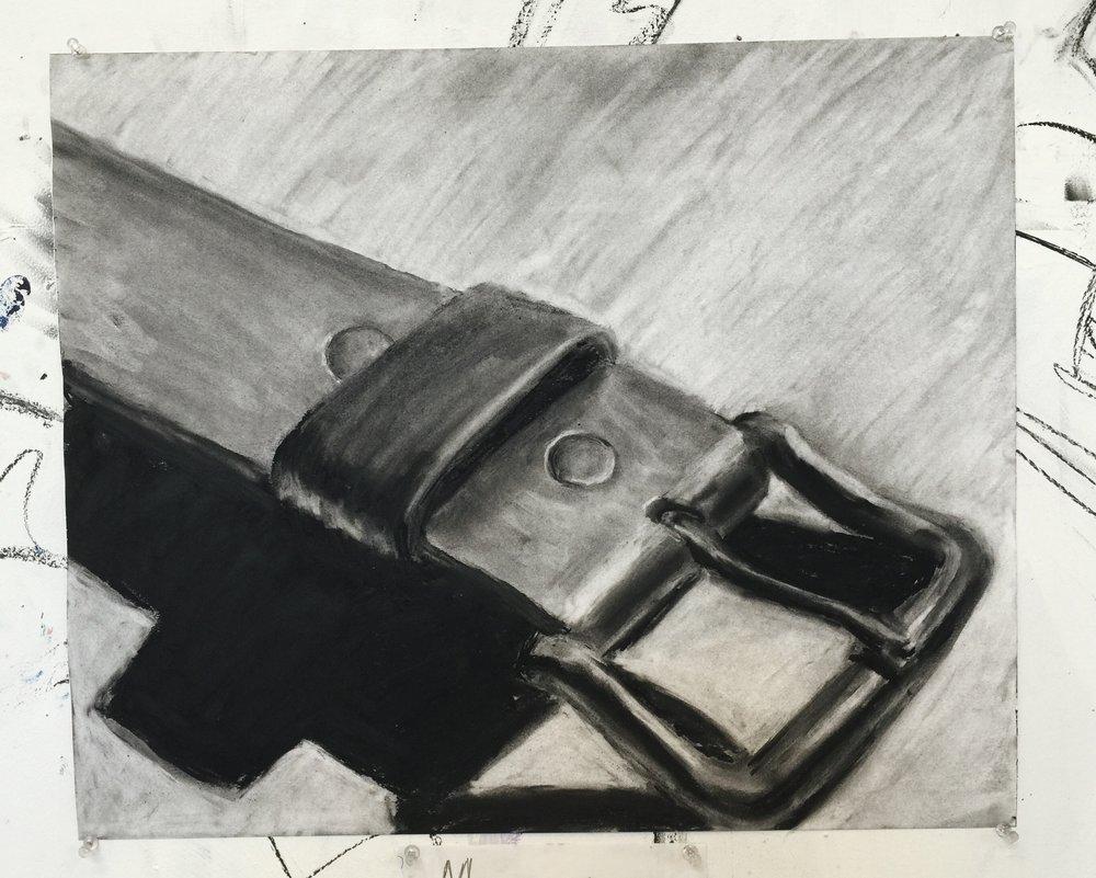 belt in charcoal 18 x 24