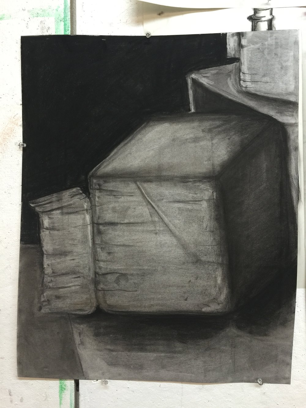 box in charcoal 18 x 24