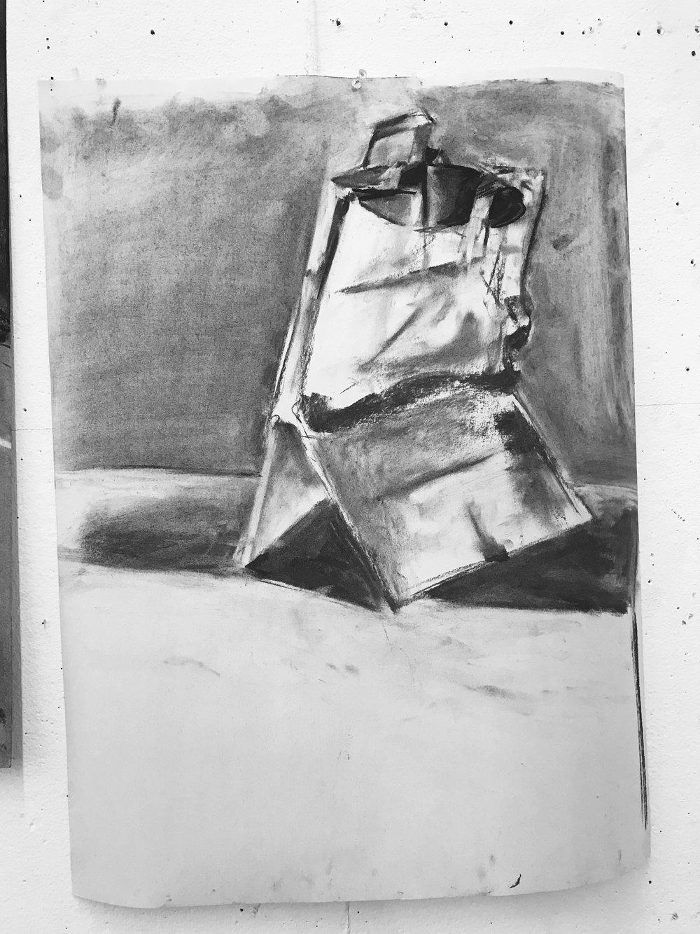 10 min bag study in charcoal