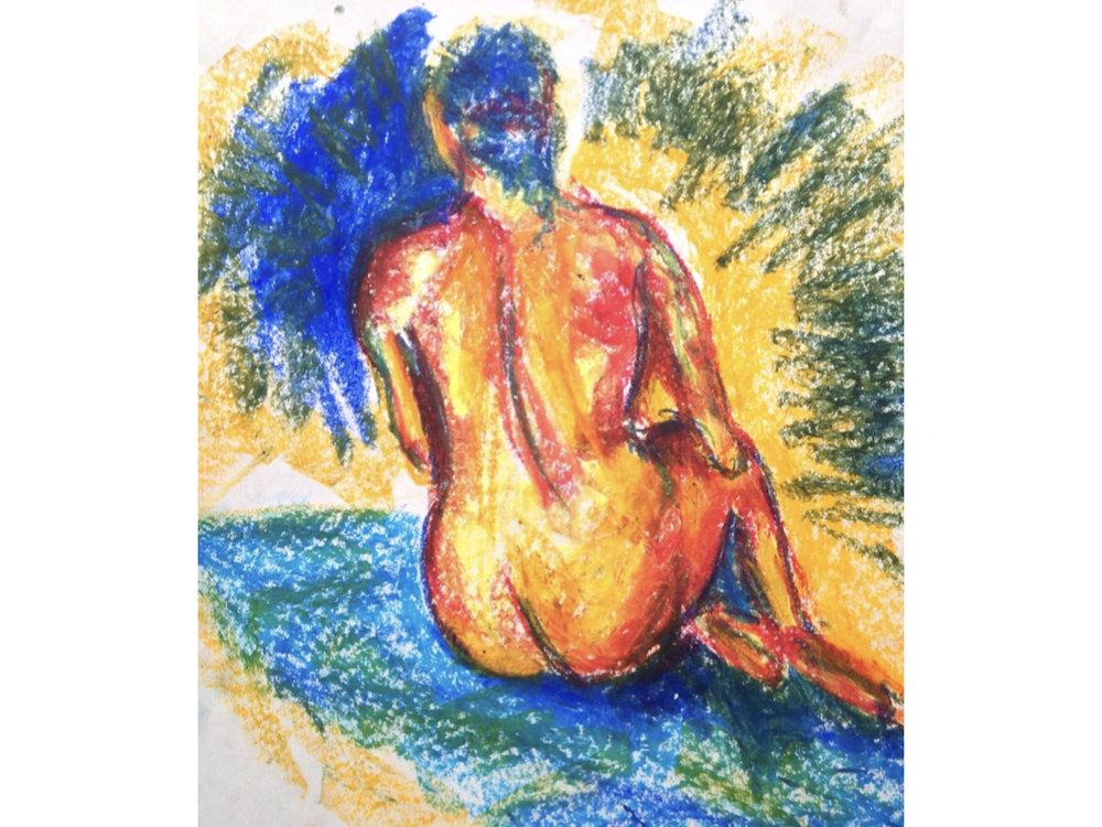 10 min study in oil pastel