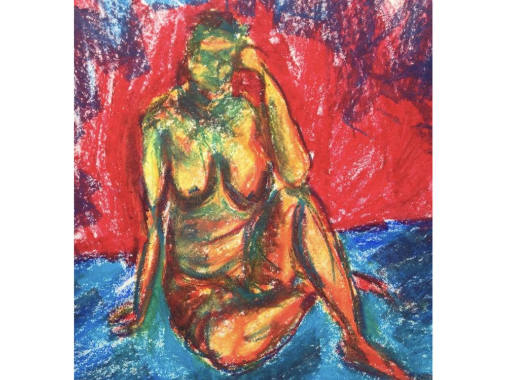 15 min figure study in color