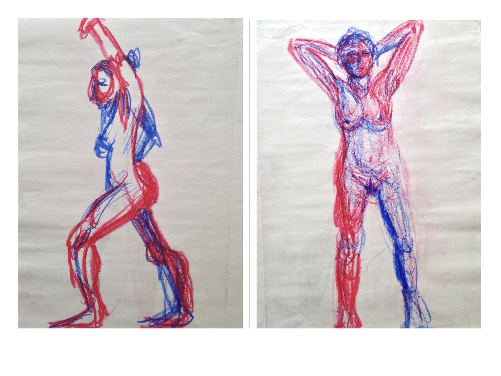 2 minute gestures in color