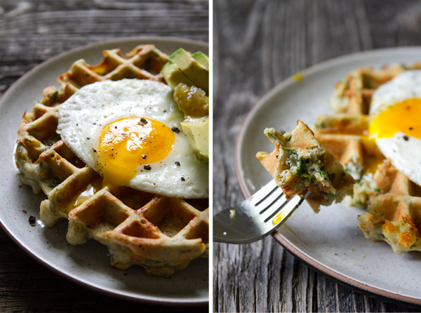 Savory Spinach + Cheese Waffles — Edible Perspective