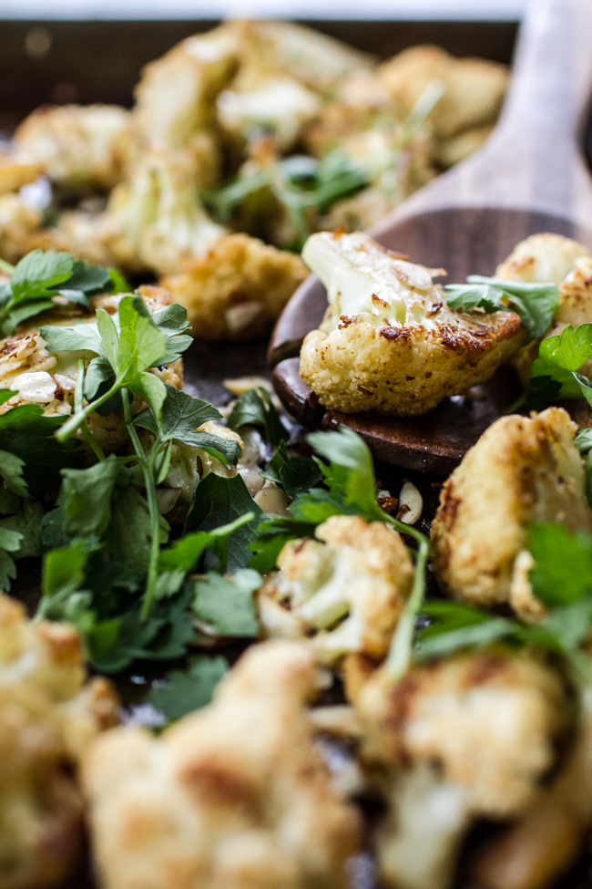 Cumin Roasted Cauliflower | edibleperspective.com