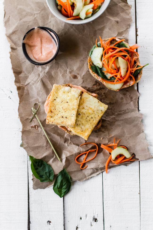 Vegetarian Tofu Bahn Mi Sandwich