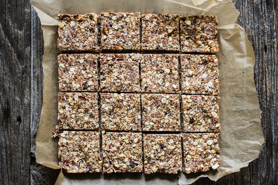 Nut + Oat Chewy Granola Bars (sweetened with dates!) | edibleperspective.com