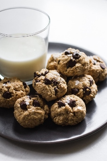 1 Bowl Chocolate Chip PB Vegan Cookies