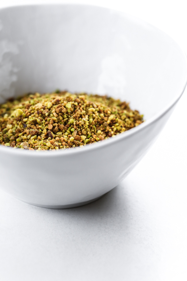Pistachio Topping for Lemon Pistachio Donuts |  edibleperspective.com