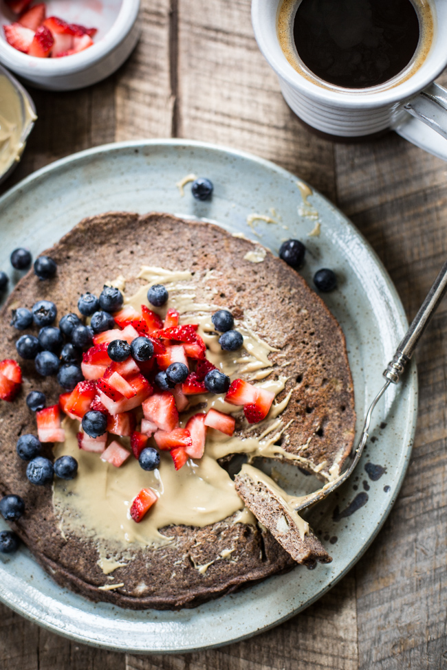 Giant Buckwheat Pancake recipe for breakfast | edibleperspective.com