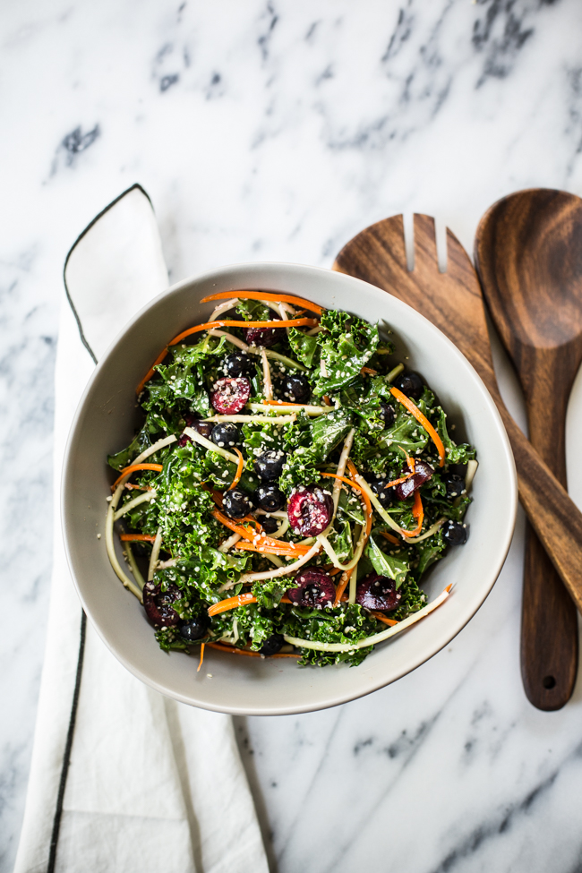 Rainbow Kale Salad | Edible Perspective