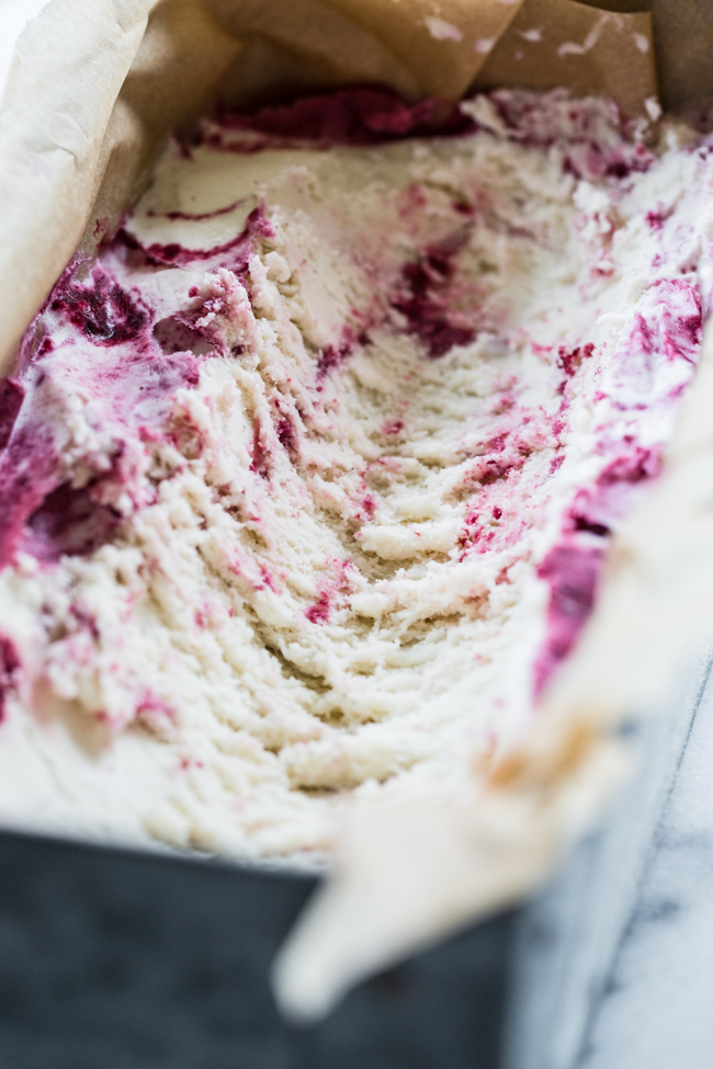 Roasted Cherry Lavender Ice Cream with vanilla beans | Edible Perspective