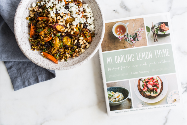Brown Rice Salad with Spice-Roasted Carrots, Feta + Pine from My Darling Lemon Thyme by Emma Galloway | edibleperspective.com