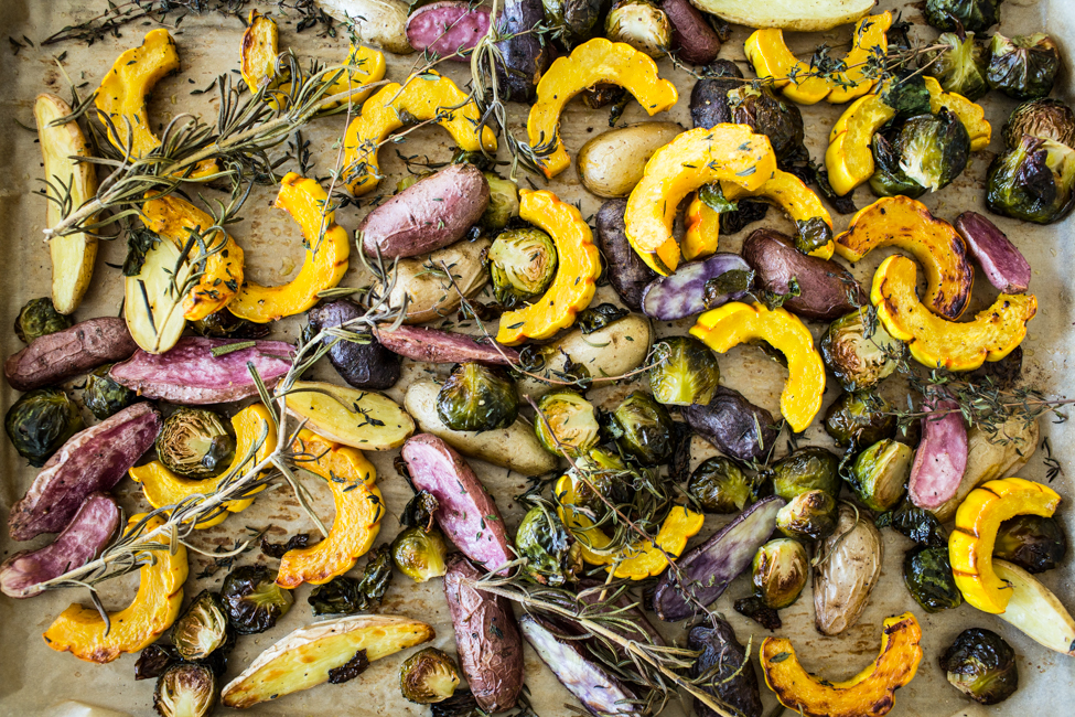Winter Roasted Vegetables with Lemon Olive Oil Dressing | Edible Perspective