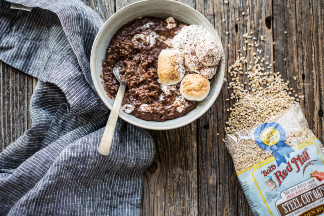 Hot Chocolate Steel Cut Oats | Edible Perspective