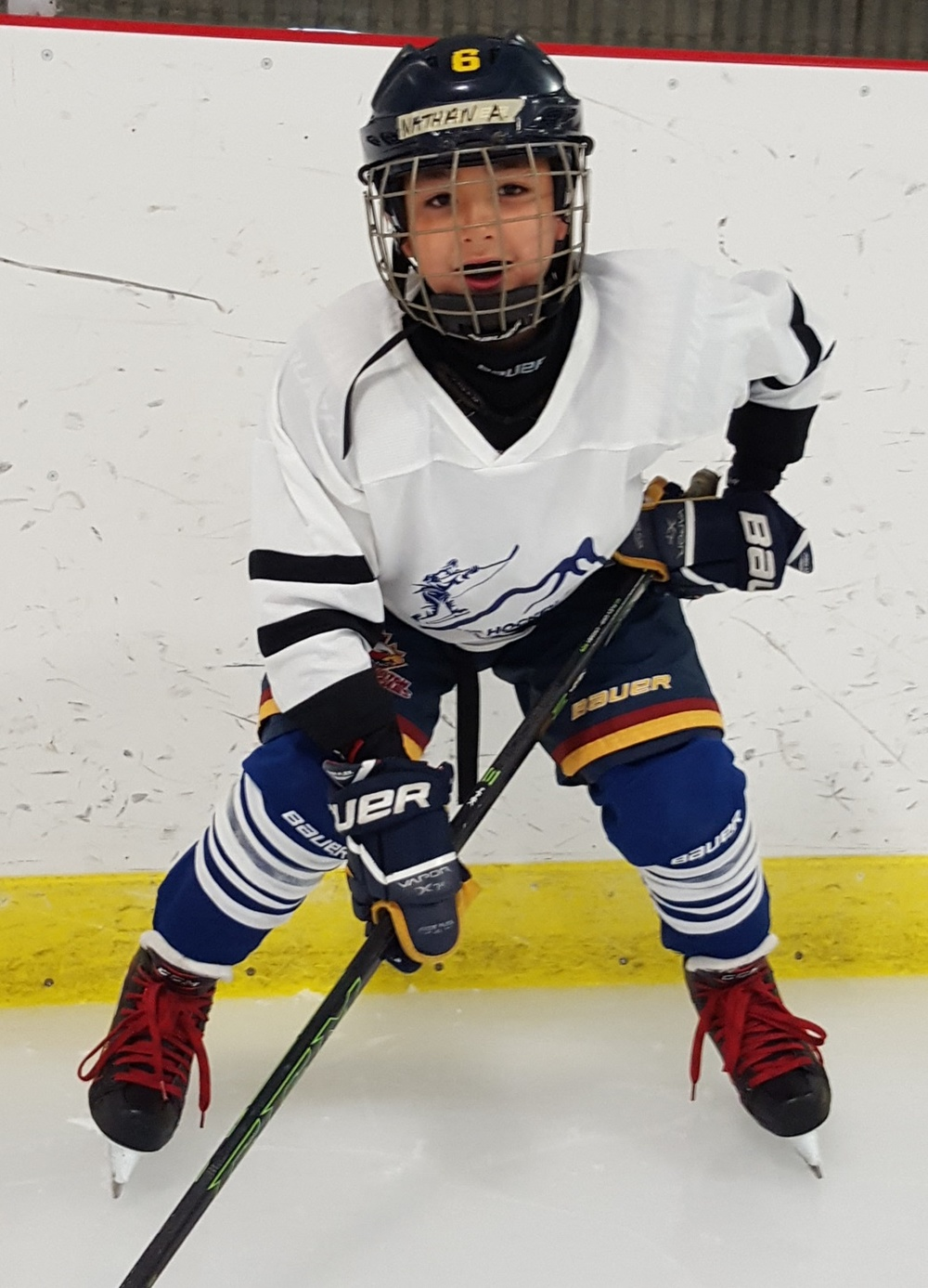 NATHAN ALLEN  Hometown: Burlington, ON Number: 6 Team: Burlington Eagles Atom AA Gold Position: Defence Shoots: Right Favorite Pre-Game Meal: Pasta and salad Favorite Hockey Player: Bobby Orr
