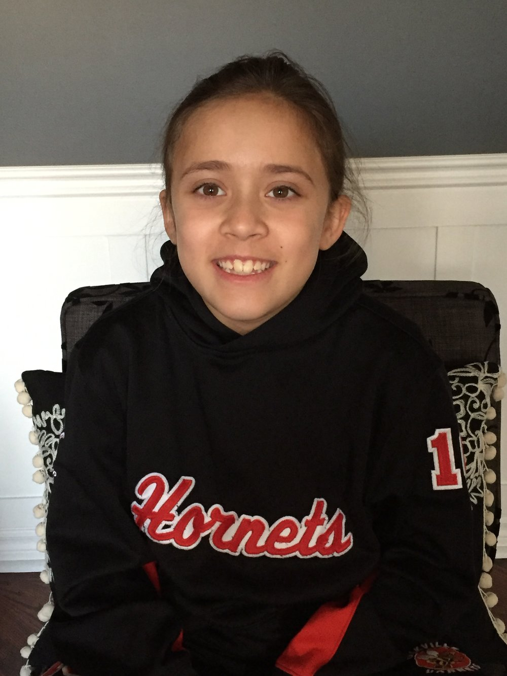 Abby Maharaj  Hometown: Oakville, ON Number: 16 Team: Oakville Hornets Atom B Position: Right Wing Shoots: Right Favorite Pre-Game Meal: Bananas and yogurt Favorite Player: Nathan MacKinnon Northern Freeze Cups:  1