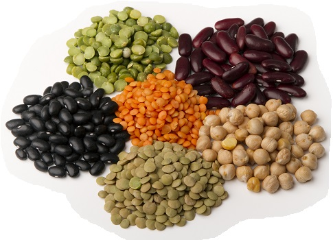 Beans, Lentils, Whole Grains