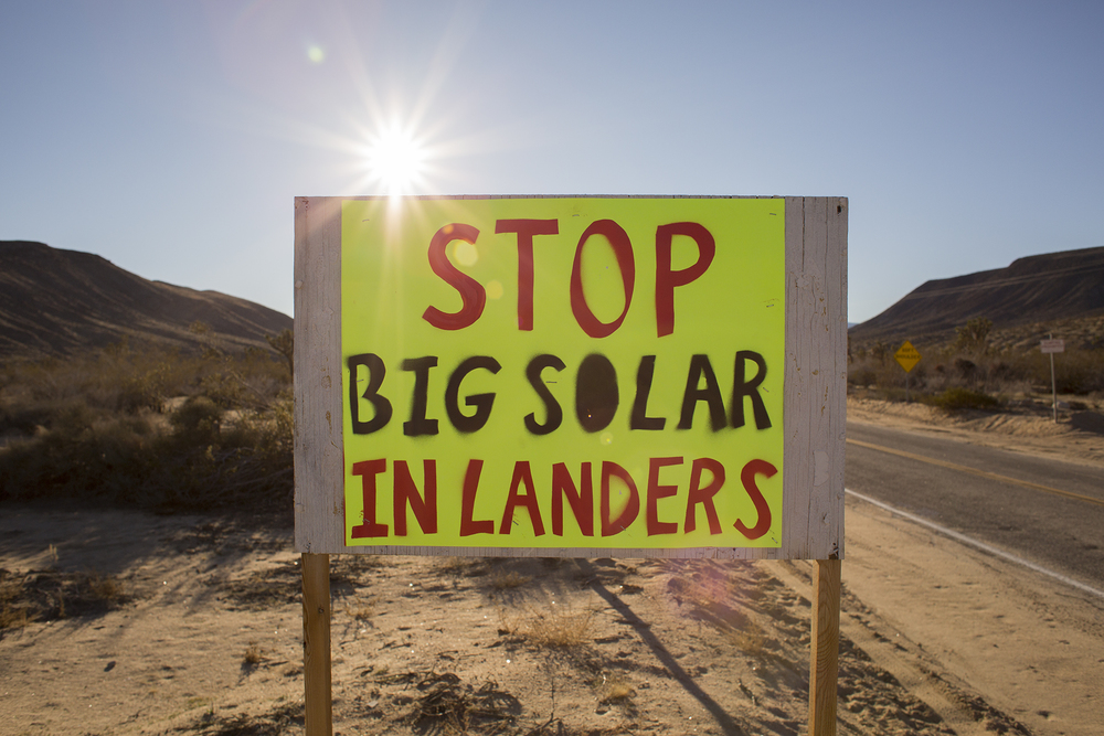 Landers and the Pioneertown communities to the west of Joshua Tree are small but particularly ardent voices against solar development.
