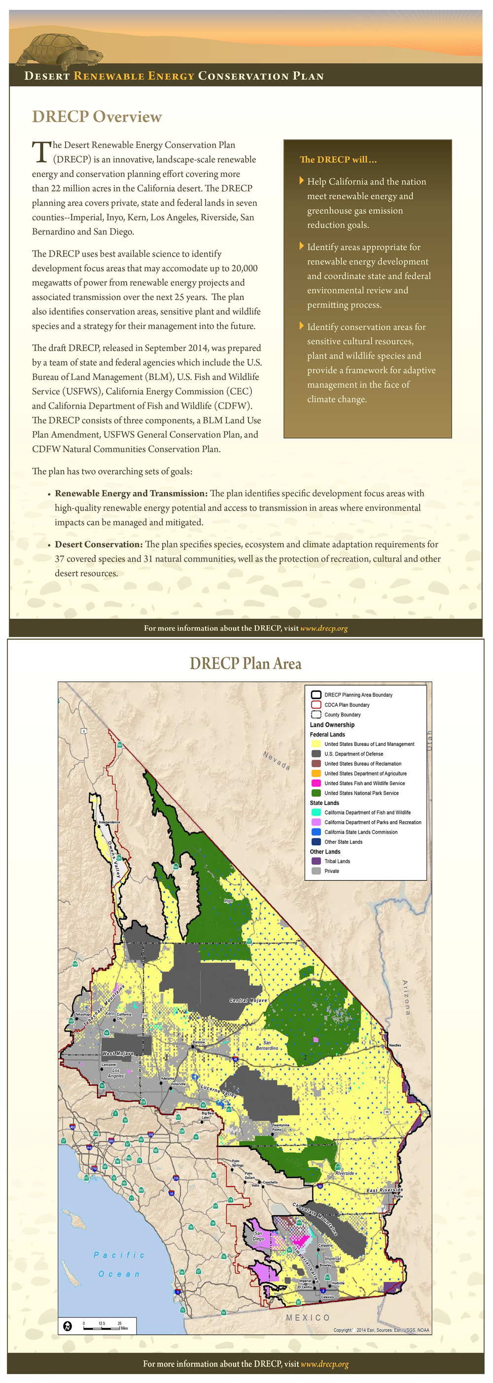 A two page overview the DRECP released of the 10,000 page report.