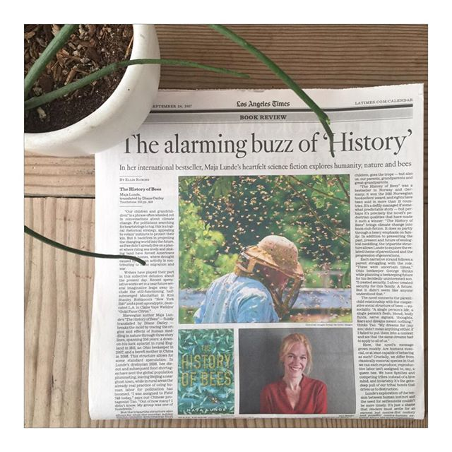 Had some thoughts about whether there's hope for humanity, and a recent international bestseller, for the LA Times. Today's Arts and Books supplement, or link in bio. #clifi  #bees #dystopia #majalunde