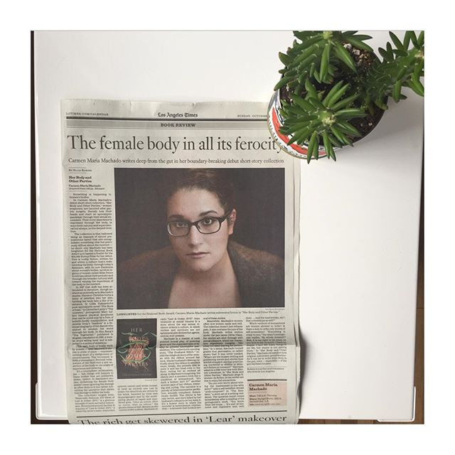 Sometimes I get paid to read the most amazing books. It was a gift to write about women's bodies, pain, joy, and Carmen Maria Machado's debut short story collection, for the @latimes. Today's Arts & Books section, or link in bio. #carmenmariamachado #graywolfpress #herbody #herbodyandotherparties