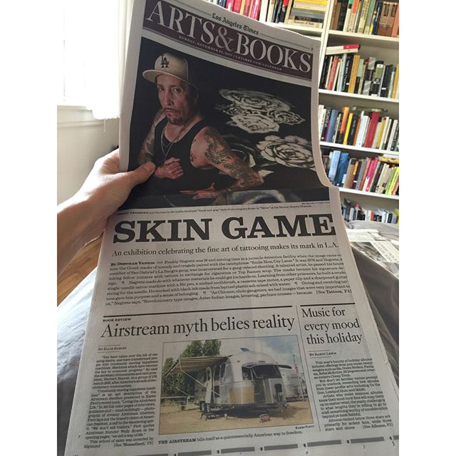 I wrote about the illusion of choice under consumer capitalism, plus Jessica Bruder's alarming new book Nomadland, Karen Flett's Living the Airstream Life, and that time I lived in an Airstream. Front of today's LA Times Arts & Books supplement, or link in bio. #airstream #nomadlife #nomadland #vandwelling
