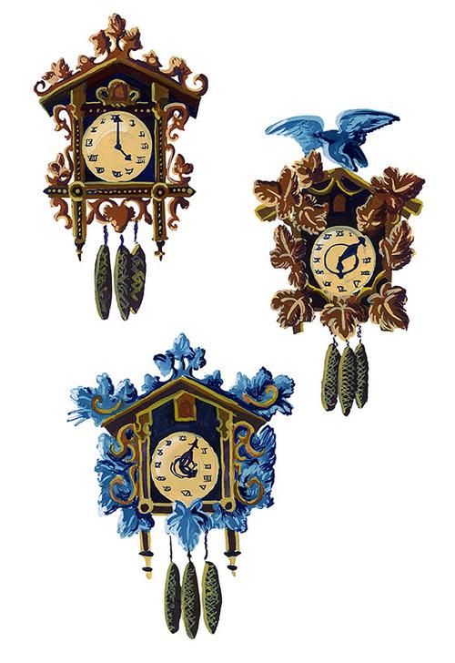 Nicole Horsman's beautiful clocks.